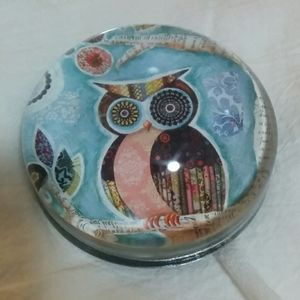 Other - Glass Dome Owl Paperweight